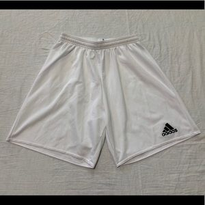 Adidas Climalite Men's White Soccer Shorts